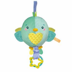 Clementoni Baby Soft Bird Βρεφικό Μουσικό Χνουδωτό Κρεμαστό Πουλάκι (1000-17269)