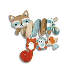 Clementoni Baby Μαλακό Σπιράλ Κρεμαστό Κούνιας και Καροτσιού Happy Animals (1000-17320)