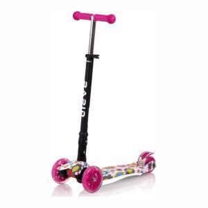 Lorelli Scooter Πατίνι Rapid Τρίτροχο με Φωτιζόμενους Τροχούς Pink Flowers Lorelli 10390040001