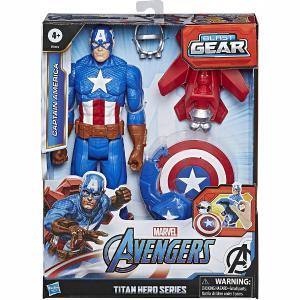 Hasbro Φιγούρα Avengers - Titan Hero - Blast Gear Captain America - 30 cm (E7374)