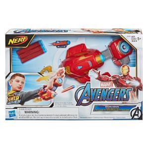 Hasbro Avengers Nerf Power Moves Marvel Iron Man Repulsor Blast Gauntlet (E7376)