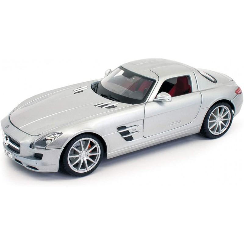 Maisto Mercedes Benz SLS AMG Silver Metallic Special Edition 1/18 Diecast 31389