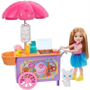 Mattel Barbie Club Κούκλα Chelsea & Καροτσάκι Φαγητού