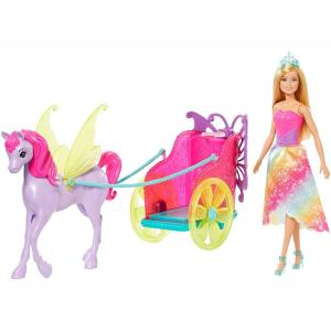 Mattel Barbie Dreamtopia Άμαξα και Πήγασος (GJK53)