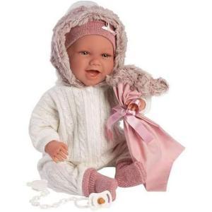 Μωρό Llorens Newborn Mimi που Γελάει, σε Καθισματάκι 42cm (LIO-74078)