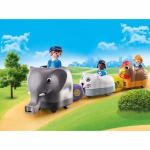 Playmobil Τρενάκι με βαγόνια-ζωάκια