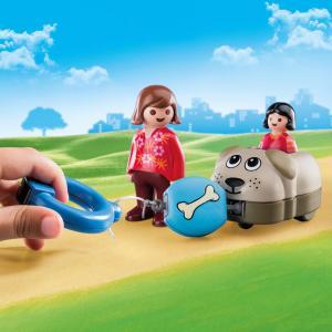 Playmobil Τρενάκι με βαγόνι-σκυλάκι
