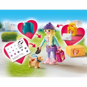Playmobil Fashion Girl με σκυλάκι