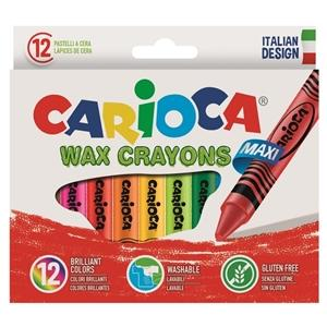 ΚΗΡΟΜΠΟΓΙΕΣ CARIOCA WAX CRAYONS/12 42369