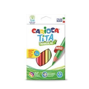 ΞΥΛΟΜΠΟΓΙΕΣ CARIOCA 42791 TITA TRIO MAXI 12τεμ