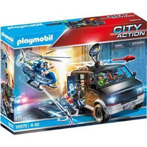 Playmobil Αστυνομικό Ελικόπτερο Και Ληστές Με Βαν (70575)