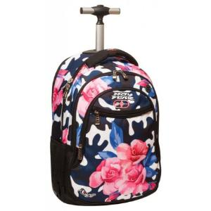 NO FEAR Back Me Up Trolley Backpack Army Flower 347-15074
