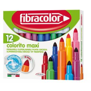 PRIMO Μαρκαδόροι. Jumbo Washable Fibracolor