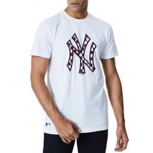 NEW ERA MLB INFILL LOGO TEE NEW YORK YANKEES WHITE (12195439)