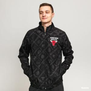 NEW ERA CHICAGO BULLS NBA PRINT BLACK TRACK JACKET (12195410)