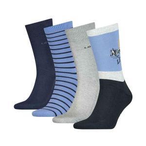 LEVI'S Ανδρικές Κάλτσες σετ 4 τεμάχια