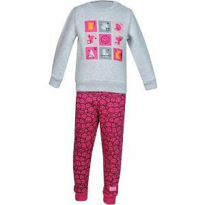 BODYTALK inf Set Crewneck & Pants-Grey/Pink