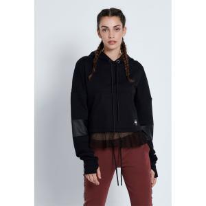 BODYTALK Γυναικεία κοντή μπλούζα `KEEP IT BLACK`