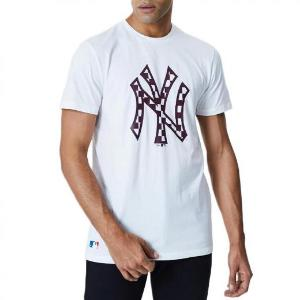 NEW ERA MLB INFILL LOGO TEE NEW YORK YANKEES WHITE