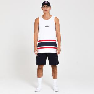 NEW ERA CAP STRIPE TANK WHI
