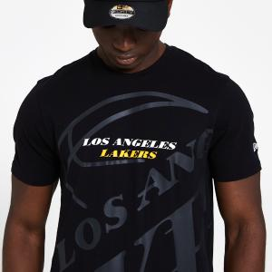 NEW ERA CAP NBA BIG LOGO TEE LOSLAK BLK