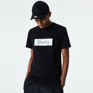 NEW YORK YANKEES PRINT BOX BLACK T-SHIRT
