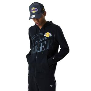 NEW ERA NBA BIG LOGO FULL ZIP HOODY LOSLAK BLK
