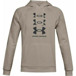 Under Armour Rival Fleece Solid Fitted Crew Beige