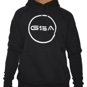 GSA Supercotton Hoodie Logo Jet Black