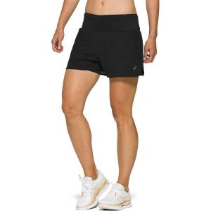 ASICS Ventilate 2-N-1 3.5'' Γυναικείο Αθλητικό Σορτς Running Μαύρο