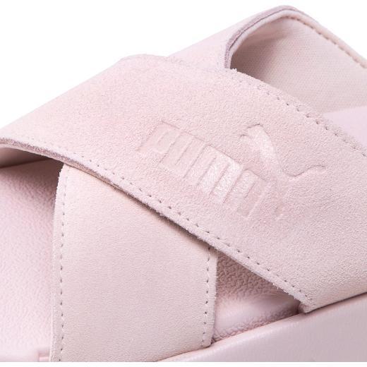 PUMA Platform Slide suede Γυναικείες πλατφόρμες παντόφλες 5