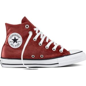 CONVERSE Chuck Taylor All Star Hi βελουτέ μπορντώ