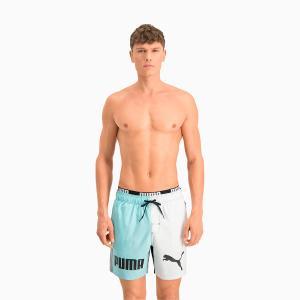 PUMA Swim Men Colour Block Mid Shorts – Mixed Colors