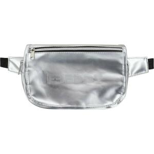 FREDDY Metallic faux leather pouch with a flap
