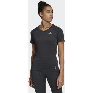 ADIDAS Μαύρο Αθλητικό Γυναικείο T-shirt Runner