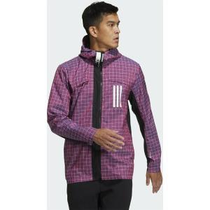 ADIDAS Sportswear W.N.D Μπουφάν Casual για Άνοιξη Ροζ / Μπλε