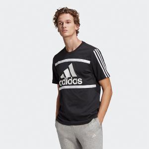 ADIDAS  Essentials Colorblock Ανδρικό T-shirt Μαύρο Με Λογότυπο