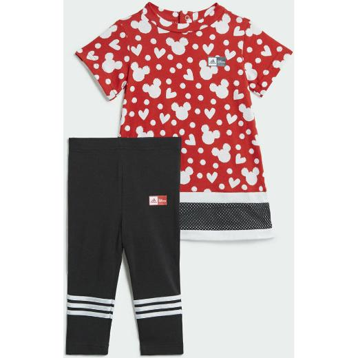 ADIDAS Minnie Mouse Summer Set Σετ Κολάν-μπλούζα για κορίτσια 1