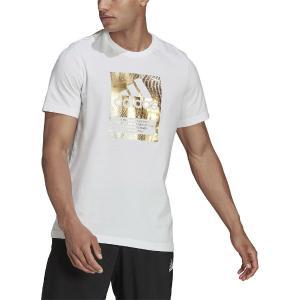 ADIDAS Badge Of Sport Box Foil Graphic Αθλητικό Ανδρικό T-shirt Λευκό Με Λογότυπο