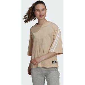 ADIDAS Μπεζ Αθλητικό Γυναικείο T-shirt Future Icons