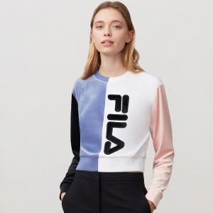 FILA CROP TOP NICOLINE SWEATSHIRT VELOUR