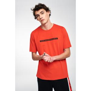 P/COC LOGO T-SHIRT IN CORAL