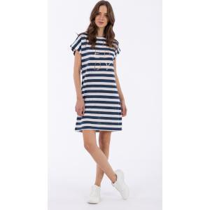 FREDDY Striped Jersey Jacquard Φόρεμα Μαρινιέρα