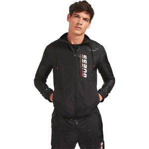 GUESS JACKET ZIP - NYLON