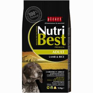 PICART NUTRIBEST ADULT LAMP & RICE 15KG - 1004