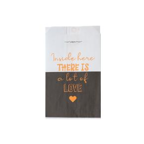 """ΣΑΚΟΥΛΑΚΙ ΒΕΖΕΤΑΛ """"THERE IS A LOT OF LOVE"""" 12x22cm 10Kg"""