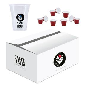 KIT CAFFE ITALIA CARUSO 100ΤΕΜ + ΔΩΡΟ 50 ΠΟΤΗΡΙΑ FREDDO CAFFE ITALIA