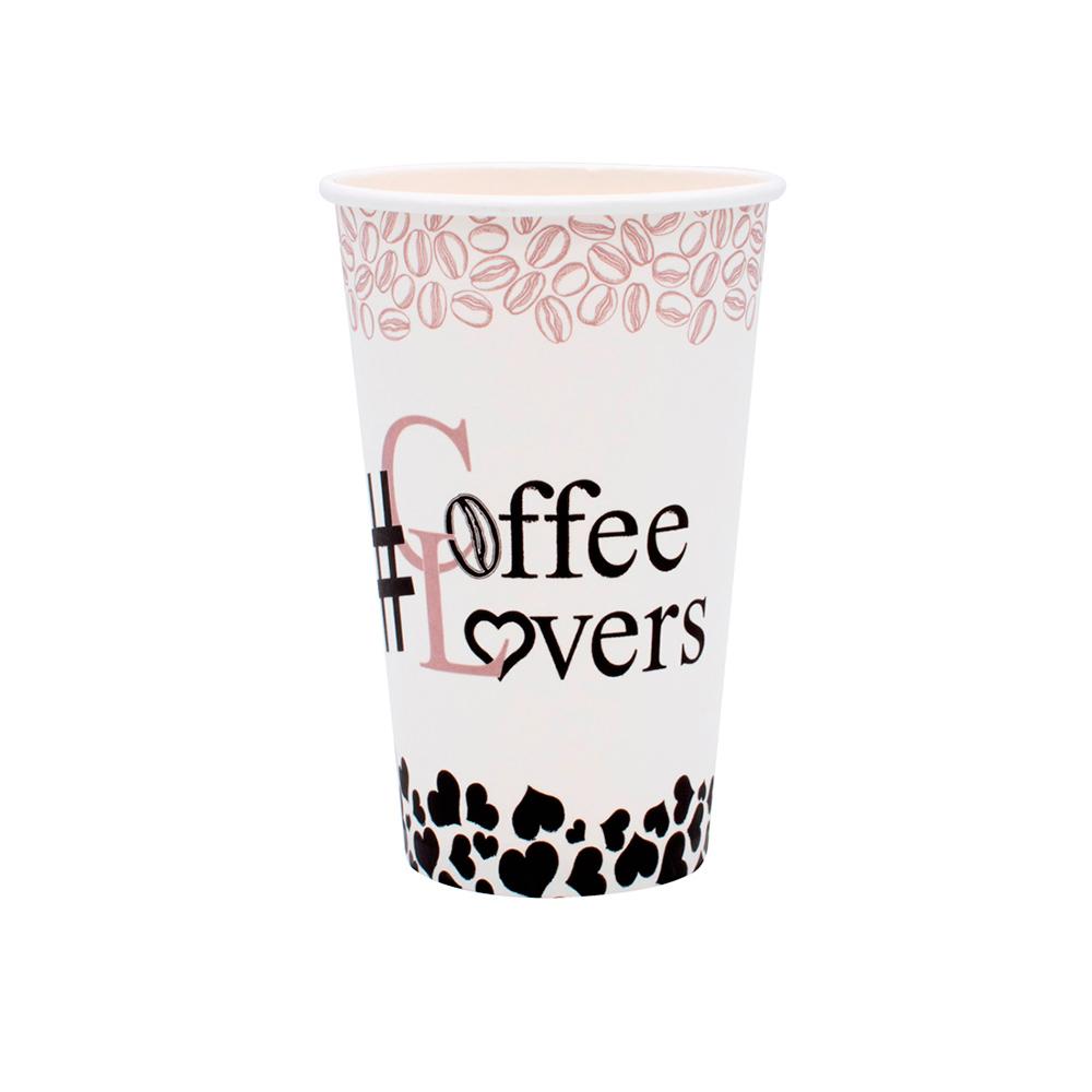 ΠΟΤΗΡΙ ΧΑΡΤΙΝΟ COFFEE LOVERS 16oz 50TEM