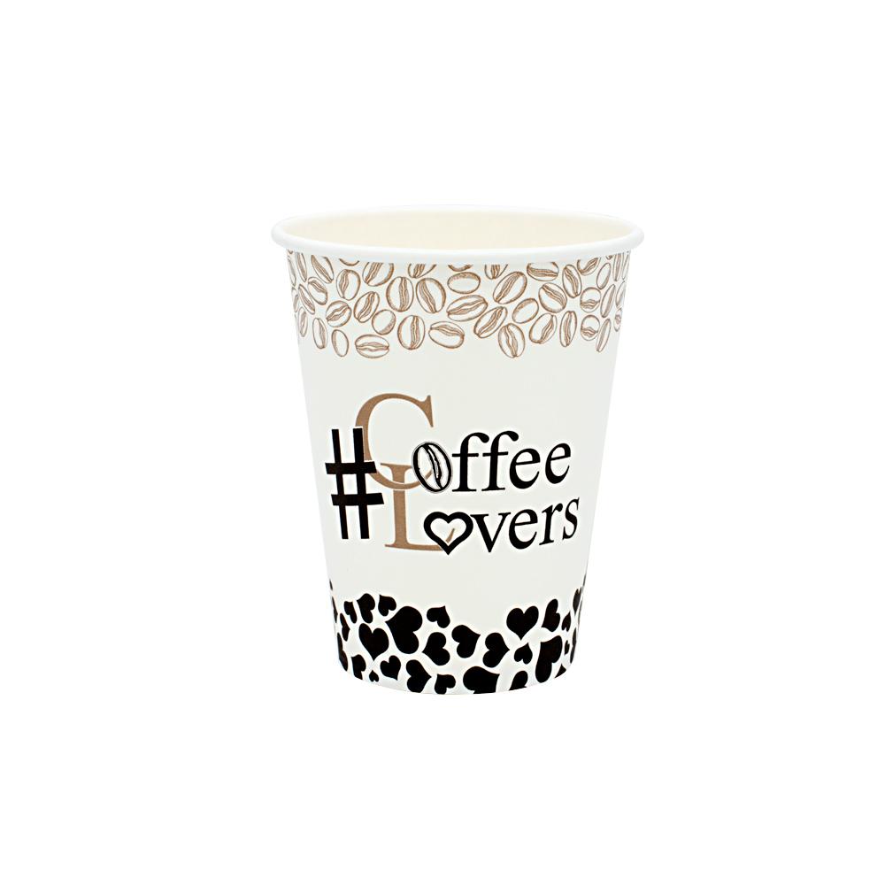 ΠΟΤΗΡΙ ΧΑΡΤΙΝΟ 14oz ''COFFEE LOVERS'' 50ΤΕΜ ΜΟΝΟΤΟΙΧΟ