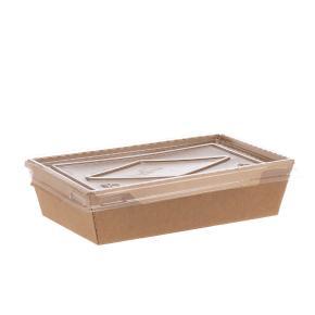 ΚΟΥΤΙ KRAFT ΠΑΡΑΛ/ΜΟ ΓΙΑ ΤΡΟΦΙΜΑ ΜΕ ΔΙΑΦΑΝΟ ΚΑΠΑΚΙ PET (500ml) 13,5x8,5x3,9cm 50ΤΕΜ